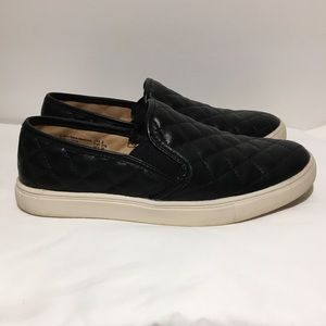Trash Quilted Black Loafers